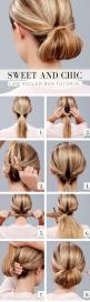 Chic Low Rolled Bun #Hair #Tutorial | LuLus | Short on time but still wanna look sophisticated? This super chic low rolled bun tutorial will be your new go-to! In mere minutes you can tame those fly-aways creating the perfect look to last you from day to
