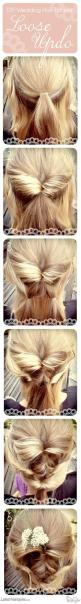 #DIY Wedding Hair: A Beautifully Loose #Updo - Get the full tutorial here... www.latest-hairst.com
