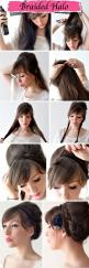 Easy Braided Halo Hairstyle - Wedding Ideas, Wedding Trends, and Wedding Galleries Also I love her bangs.: Hair Ideas, Hairstyles, Hair Styles, Halo Hairstyle, Makeup, Braided Halo, Updo