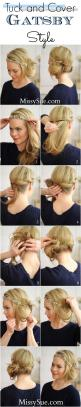 Gatsby Style | | Hair tutorials at You're So Pretty | #youresopretty | youresopretty.com: Hairstyles, 1920, Hair Styles, Hairdos, Hair Tutorial, Hair Do, Updos, Gatsby Style, Tuck And Cover