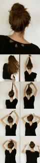 Super Easy Knotted Bun Updo and Simple Bun Hairstyle Tutorials - Fashion Diva Design: Easy Bun Hairstyle, Messy Bun Tutorial, Hair Styles, Messy Buns, Easy Fancy Hairstyle, Bun Hairstyles Tutorial, Simple Bun Hairstyle