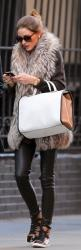 Olivia Palermo's super-cool leather skinny leggings, high-top sneakers, and fur vest scream fall outfit perfection!: Oliviapalermo, Fashion, High Top, Street Style, Outfit, Olivia Palermo, Fall Winter, Fur Vest