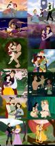 I love Disney!! I think these are cute... (even if inaccurate to the true stories) and (even though Thumbilina wasn't Disney and Belle should be there) Some of the arguing comments are hilarious btw: Disney Families, Disney Couple, Disney Cartoon, Dis